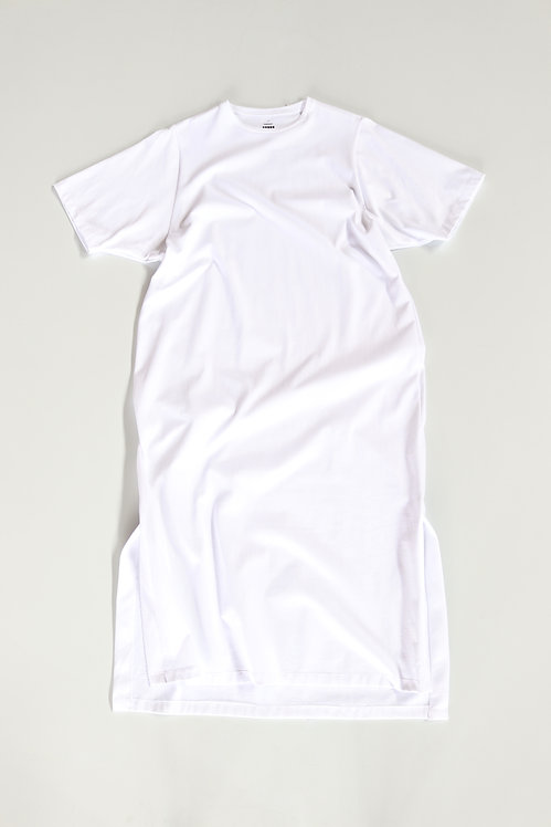 Graphpaper Jersey S/S Dress -WHITE-