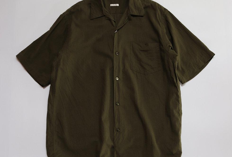 COMOLI ベタシャン オープンカラーシャツ OLIVE
