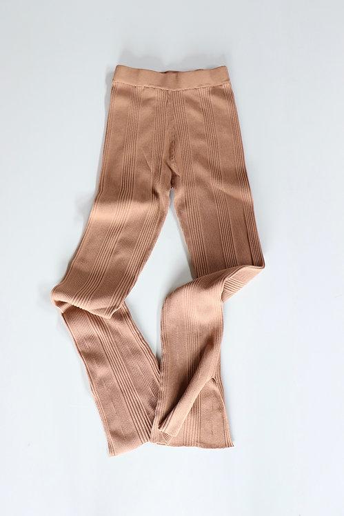 HAKUJI Random rib leggings -BEIGE-