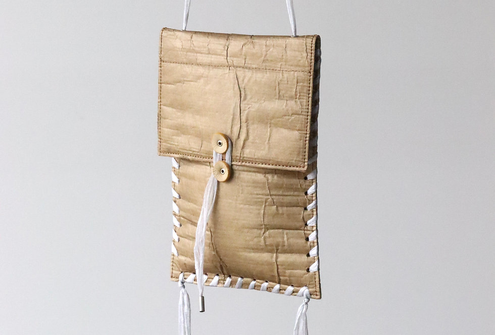 beta post Cardboard shoulder bag BEIGE