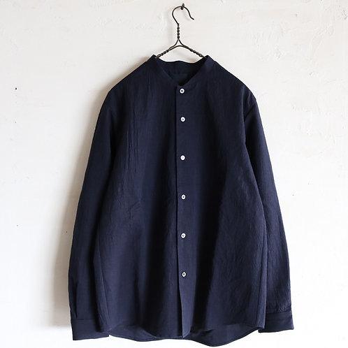 山内 有松塩縮加工リネンシャツ -NAVY-