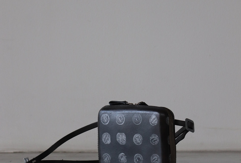 CECCHI DE ROSSI armor belt bag MIX BLACK×SILVER DOT