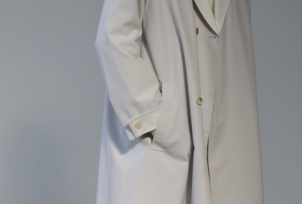 seya. SUMIRE AIR TRENCH CLOUD WHITE/CREAM