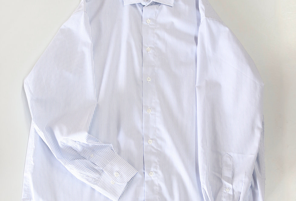 Baserange Ole Shirt White With Stripe Popeline