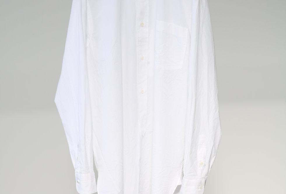 COMOLI バンドカラーシャツ WHITE
