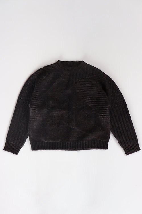 amachi. Wood Flame Knit Brown