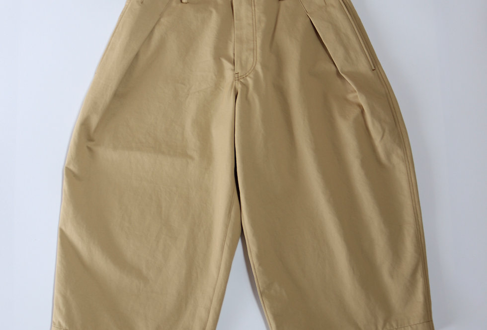 KHOKI Double color wide pants Beige