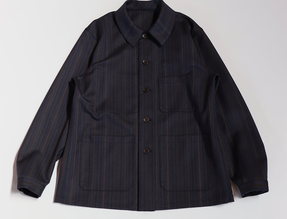un/unbient FIRST GLANCE JACKET NAVY STRIPE