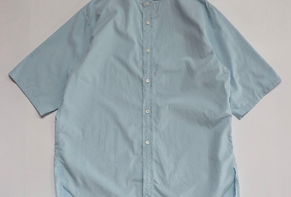 ETS.MATERIAUX Band collar shirt S/S SAXBLUE