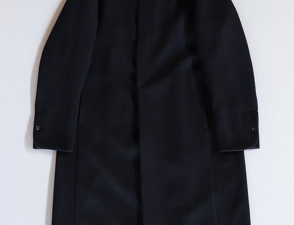 T-MICHAEL Band Collar 3/4 Length Coat