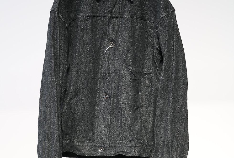 COMOLI デニム ジャケット BLACK/ECRU