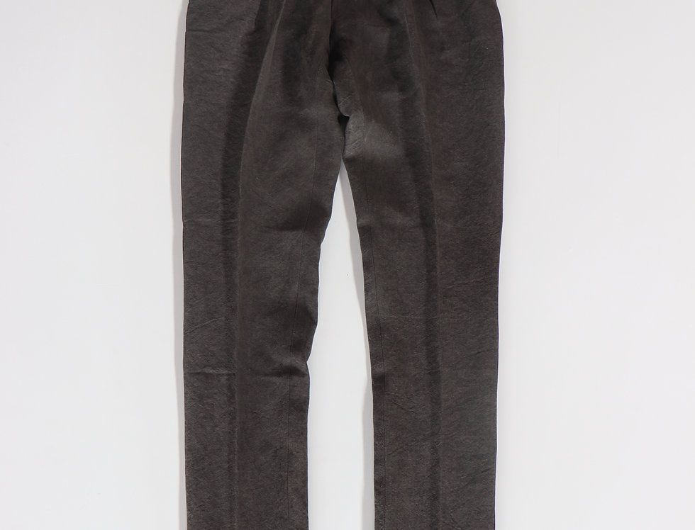 NEAT High Density Linen / Japanese Paper Dyed Tapered Black