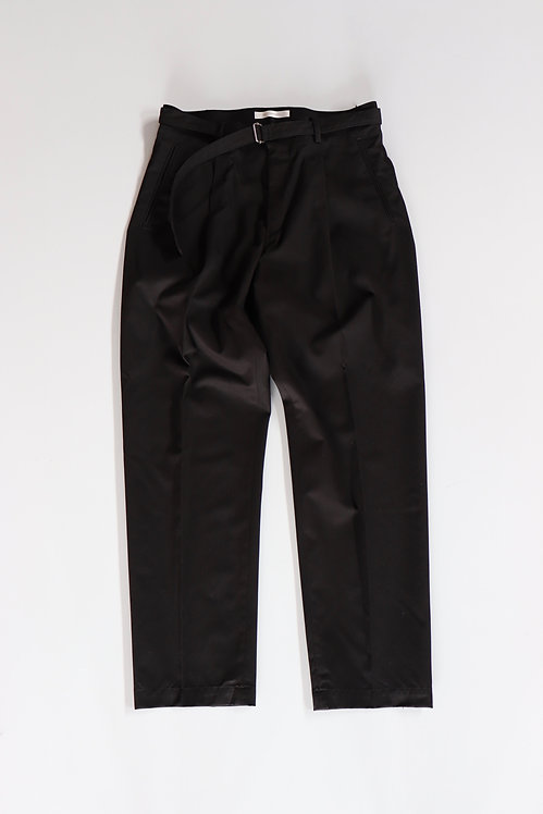 tilt The authentics Belted 1Tuck Light Trousers -BLACK-