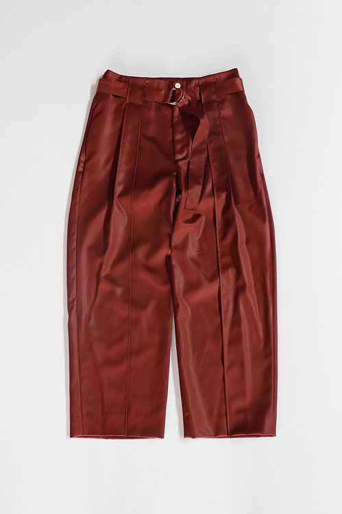 amachi. Wax Wood Trousers Red Brown