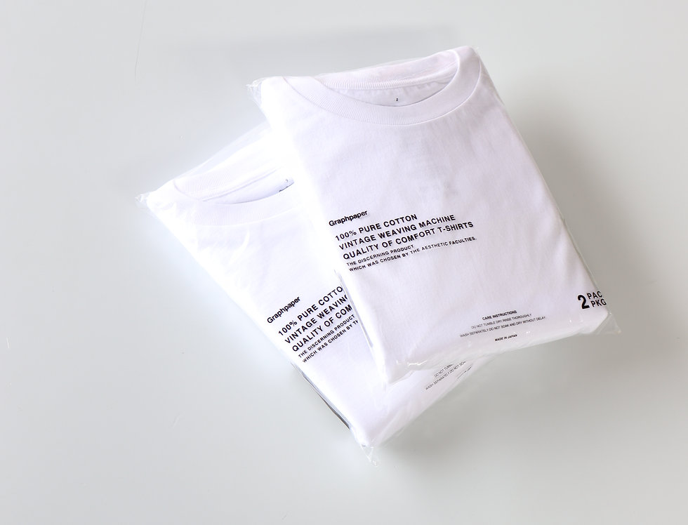 Graphpaper 2-Pack Crew Neck Tee -WHITE-