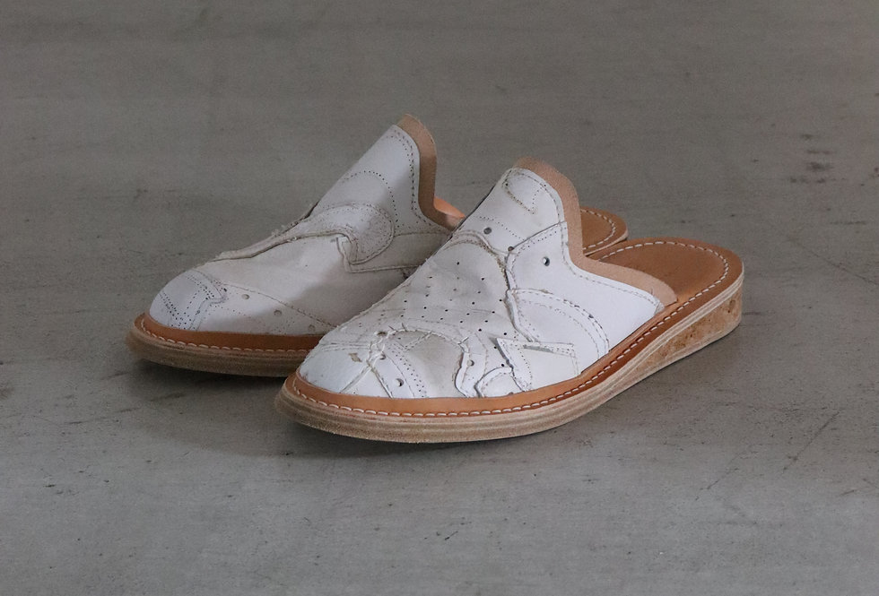 PETERSONSTOOP or5 Patchwork mule leather and cork sole