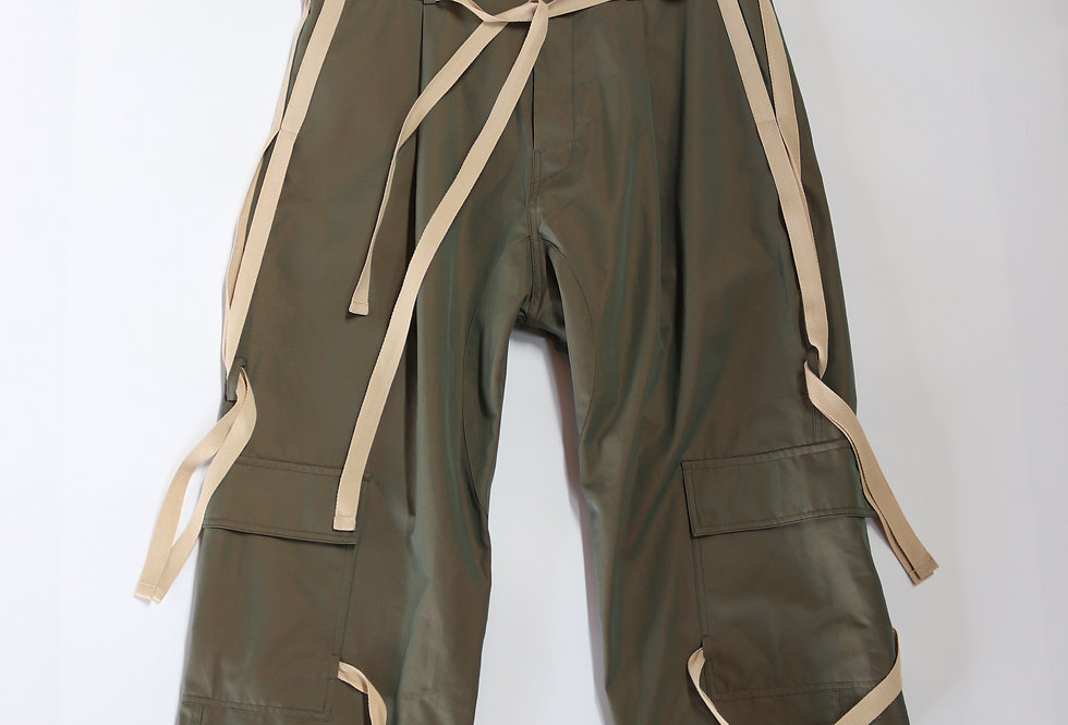prasthana hang strings cargo trousers Khaki solaro