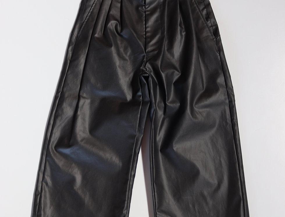 JUHA COATING CHINO PANTS BLACK