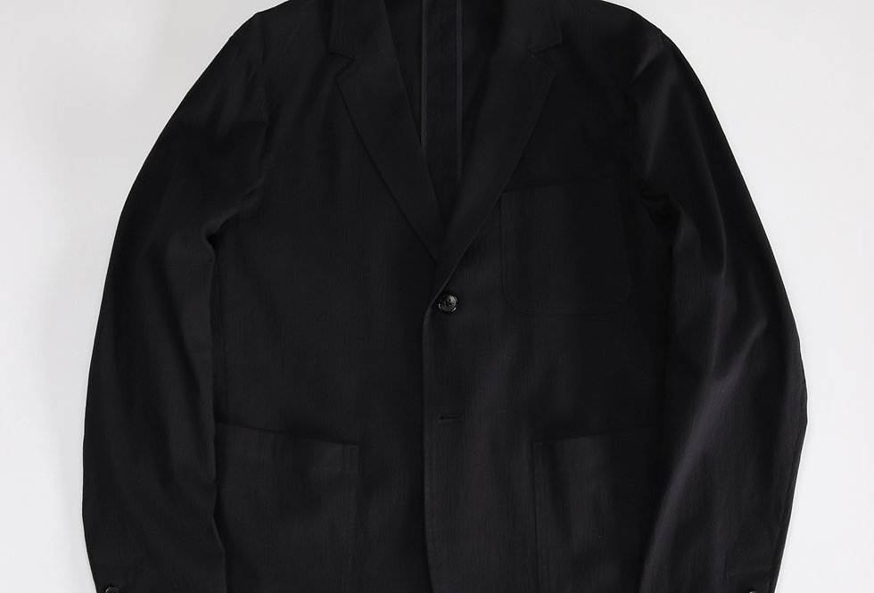 AUBETT Crepe Cloth 3B Jacket Dark Navy