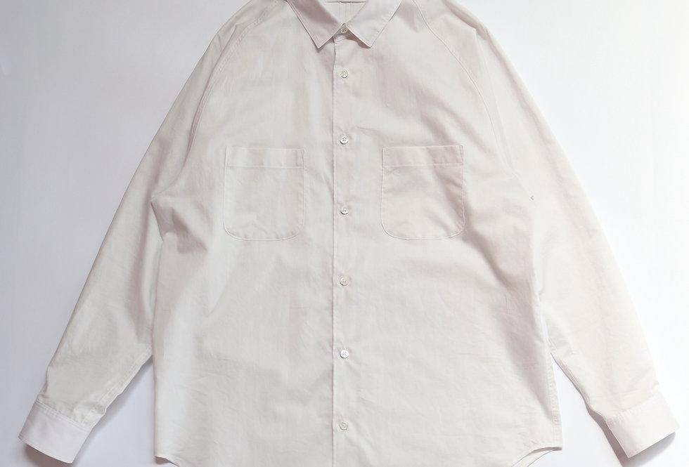 tilt The authentics Yoke Raglan Shirt dyed white
