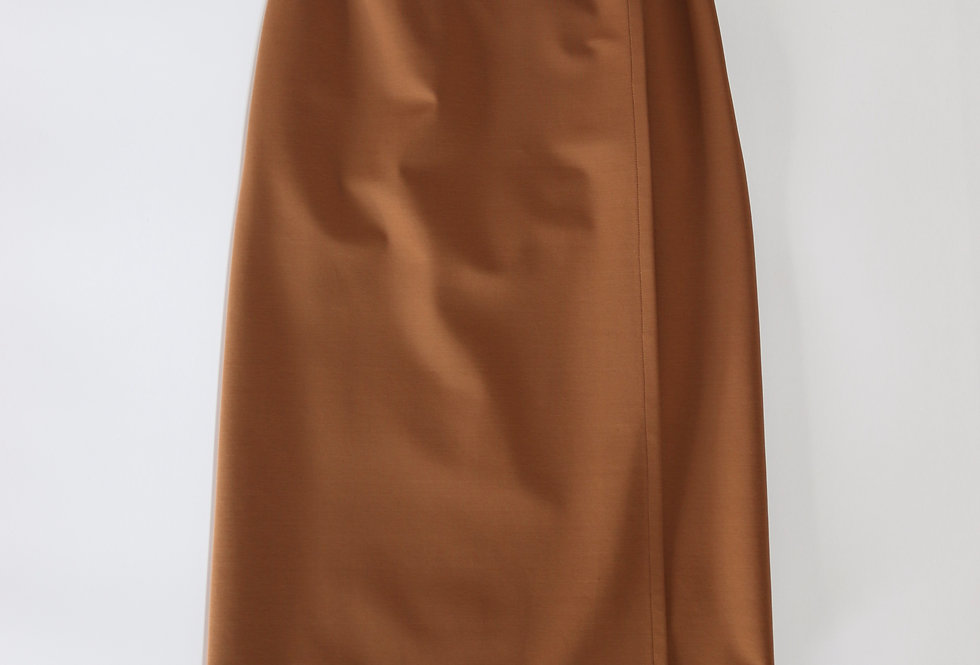 Graphpaper Compact Ponte Wrap Skirt BROWN