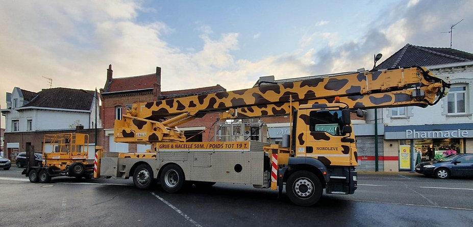 camion girafe grue nordleve