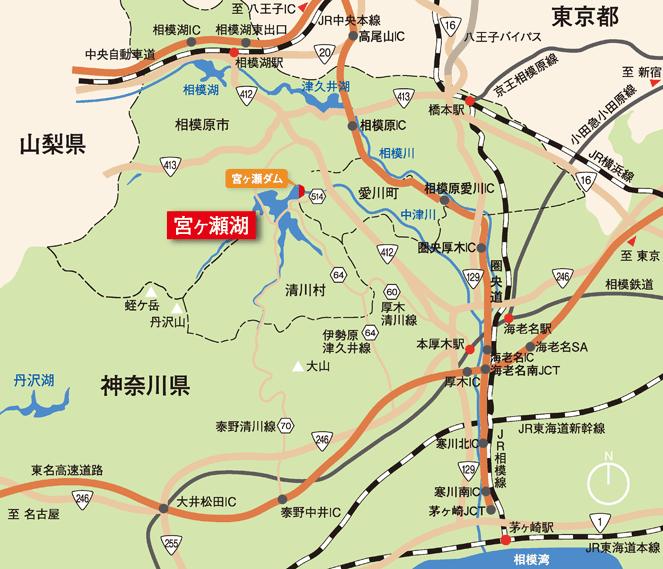 宮ヶ瀬MAP