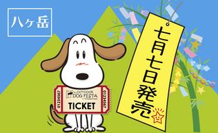 【八ヶ岳】チケット7月7日販売開始