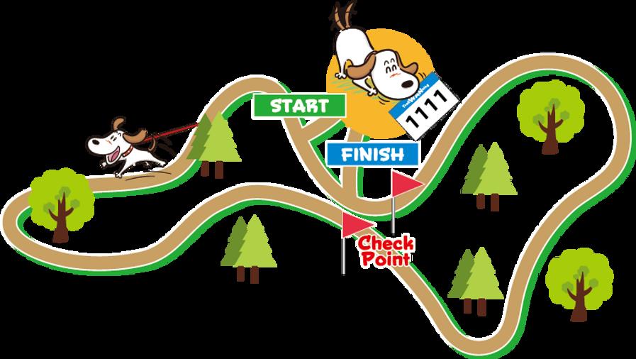 トレイルWAN(ワン)ニングコース|八ヶ岳の自然の中を走る800メートルの森林コース|アウトドアドッグフェスタin八ヶ岳