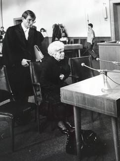 Linda Reich Breder Testifying in Germany