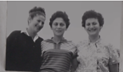 Edith with her surviving sisters: Ruthie and Hilda.