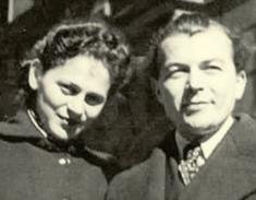 The wedding photo of Edith and Ladislav Grosman