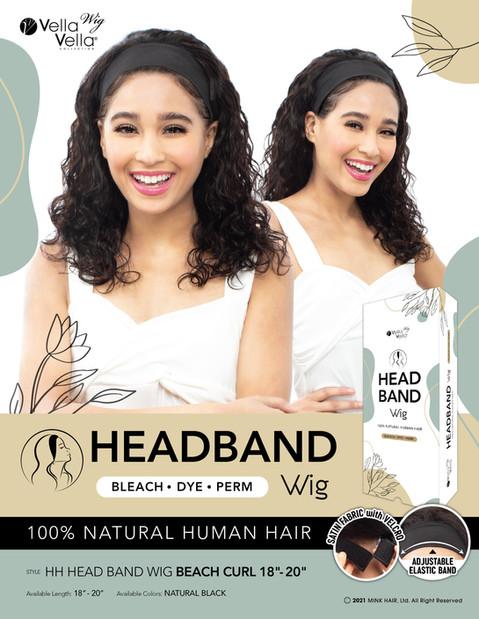 """HH HEAD BAND WIG - BEACH CURL 18""""- 20"""""""