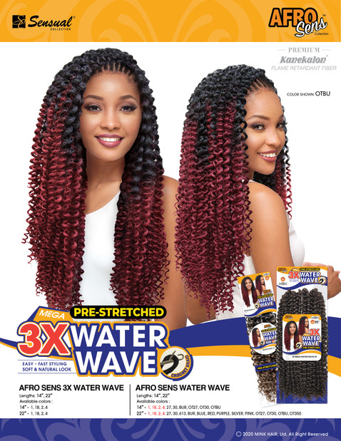 AFRO SENS BRAID - 3X WATER WAVE