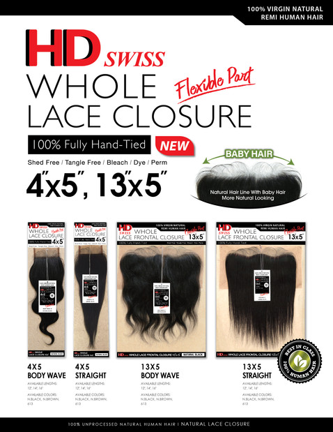 HD WHOLE LACE CLOSURE