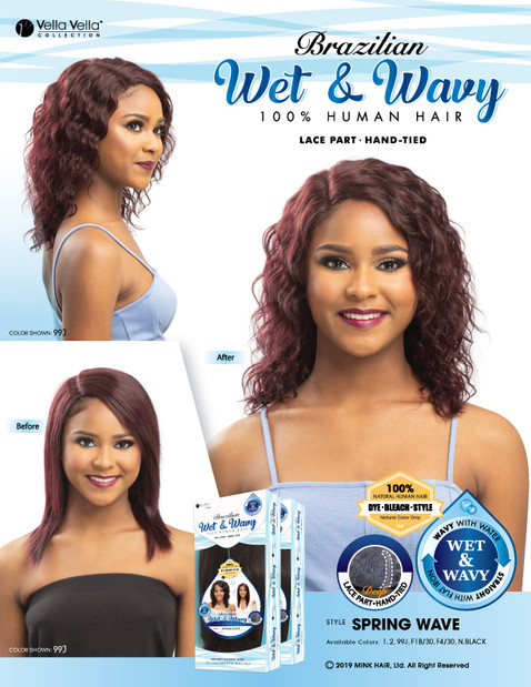 HUMAN HAIR LACE PART BRAZILIAN WET & WAVY - SPRING WAVE