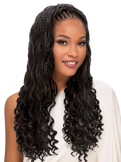 AFRO SENS 2X BOX BRAID WAVY GODDESS 20""