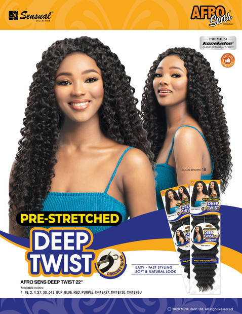 AFRO SENS BRAID - DEEP TWIST 22""