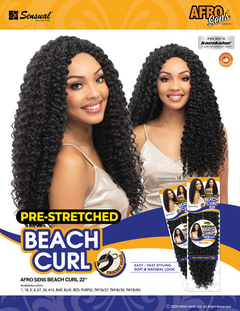 AFRO SENS BRAID - BEACH CURL 22""