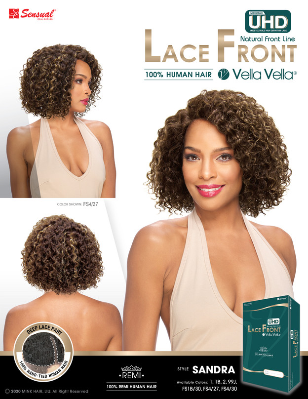 LACE FRONT HUMAN HAIR WIG - SANDRA