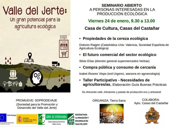 Seminario abierto a personas interesadas en la producción ecológica