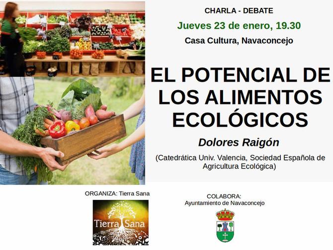 """Charla-debate en Navaconcejo: """"El potencial de los alimentos ecológicos"""" por Lola Raigón"""