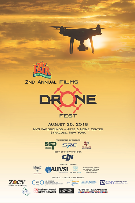 2018 NYS Fair Drone Film Festival Poster