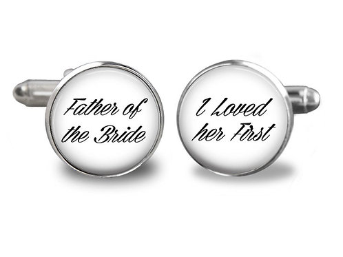 Father of the Bride Wedding Day Cufflinks