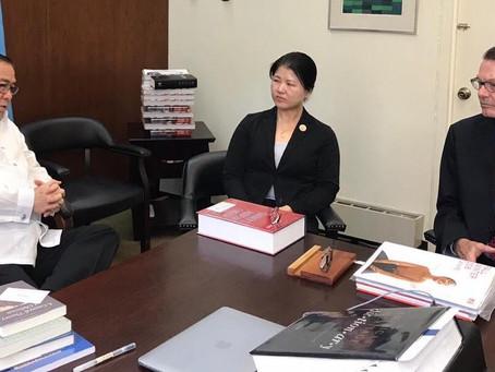 GRMF's Marawi Team briefs Philippine Secretary of Foreign Affairs