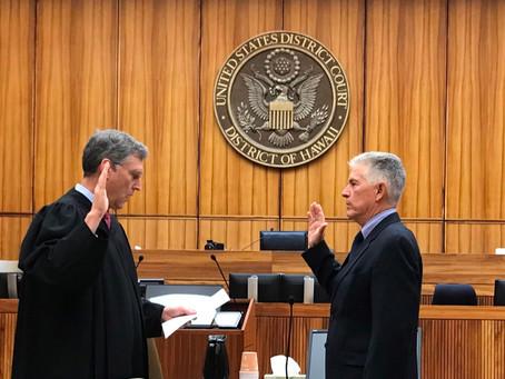 "Board Advisor Charles ""Charlie"" Goodwin sworn in as the new U.S. Marshall for Hawaii"