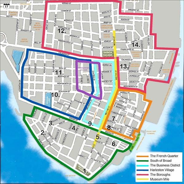 Historic walking streets of Charleston