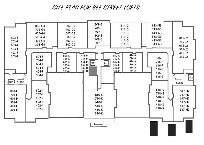 Bee Street Lofts Condo Layout