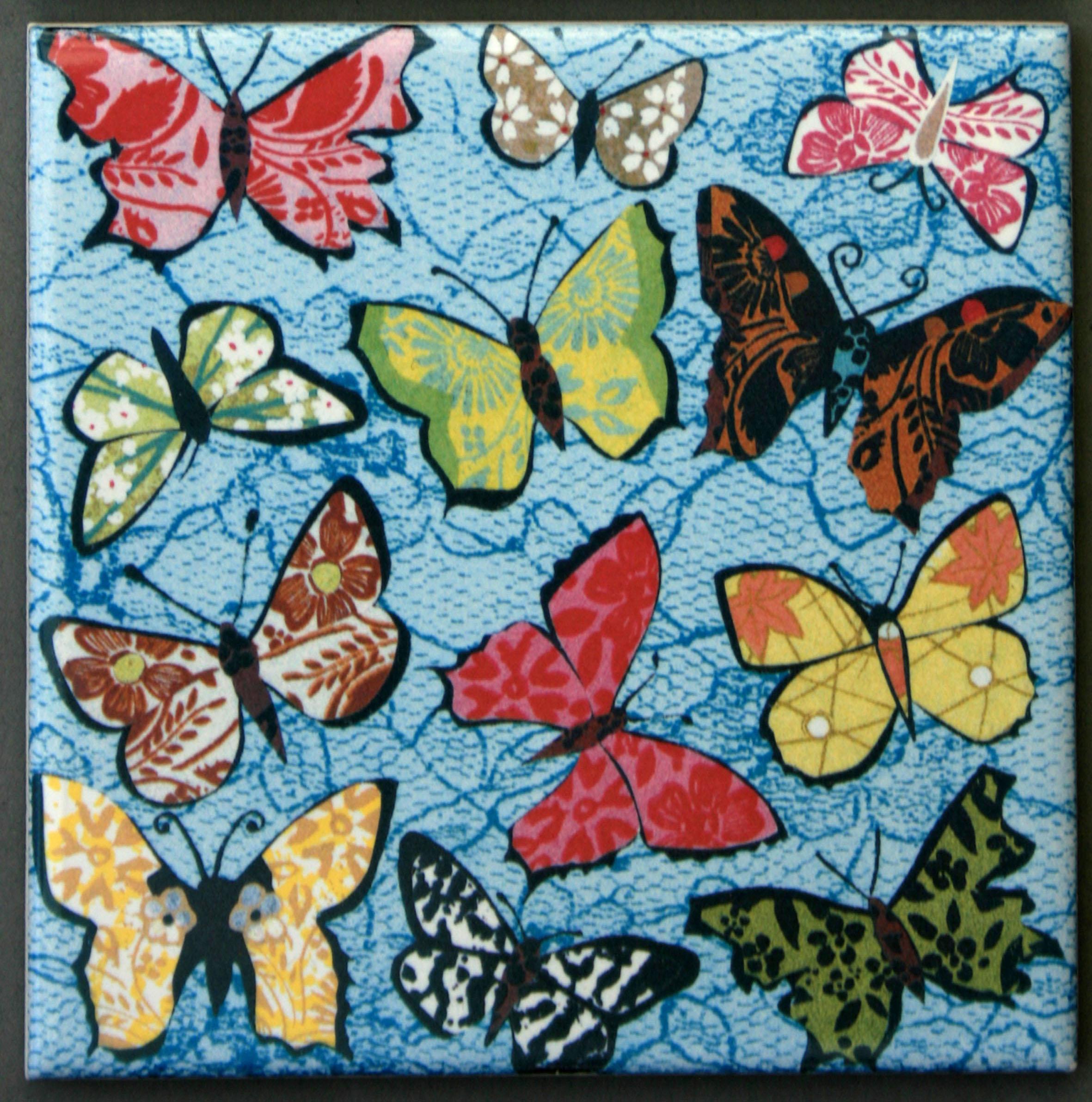 Blue Butterfly Coaster