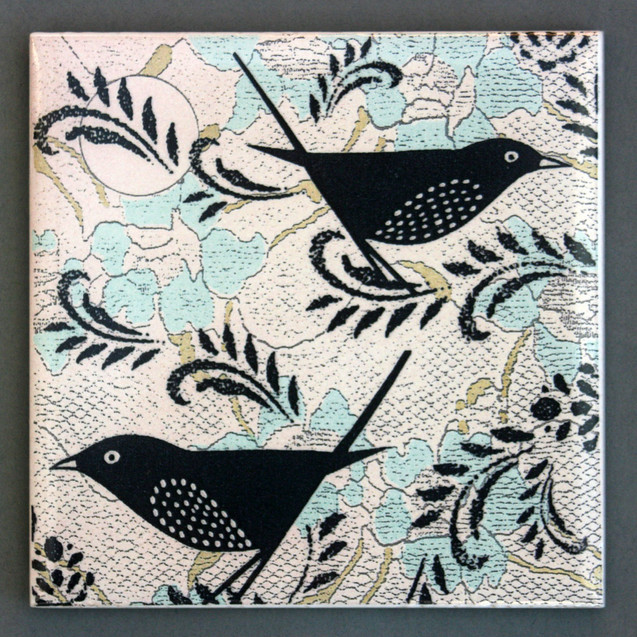 blue birdie coaster